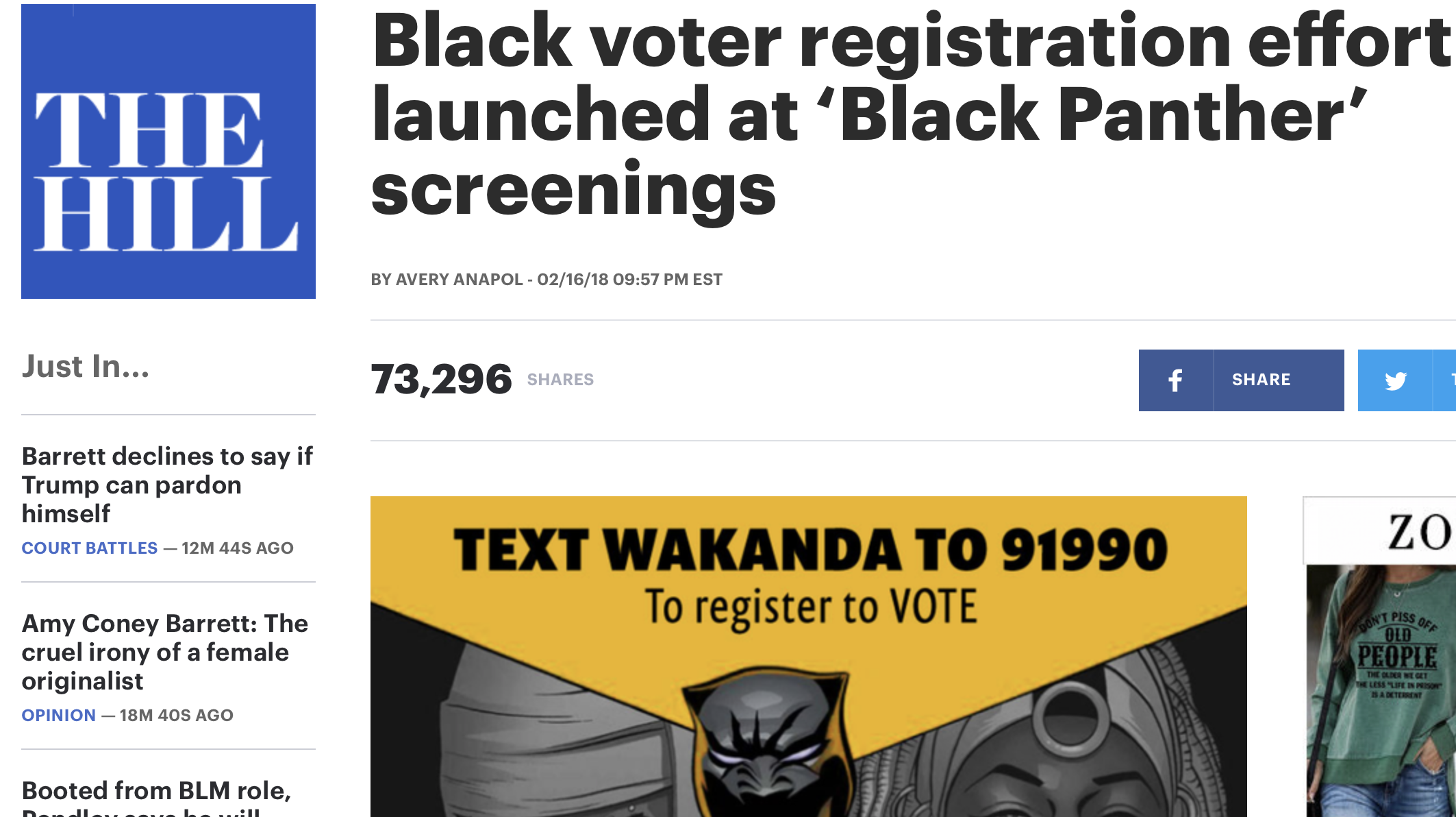 Black voter registration effort launched at 'Black Panther' screenings