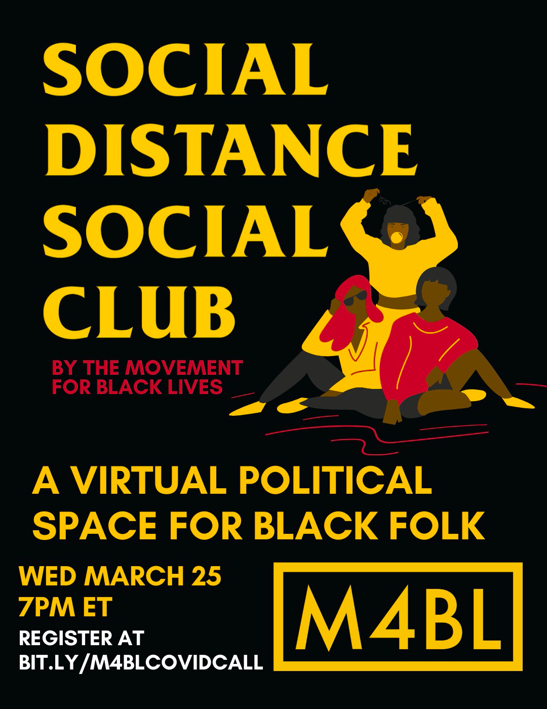 Social Distance Social Club: A Virtual Political Space for Black Folk event poster
