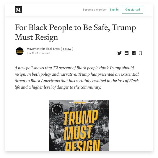 For Black People To Be Safe, Trump Must Resign