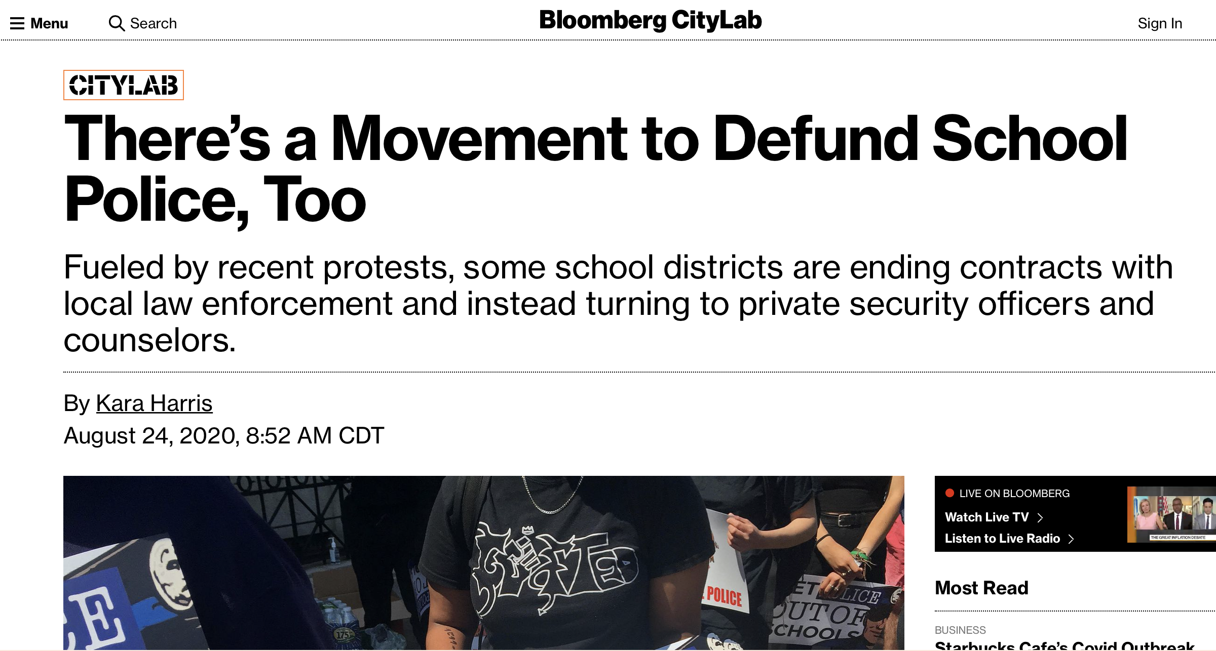 There's a Movement to Defund School Police, Too