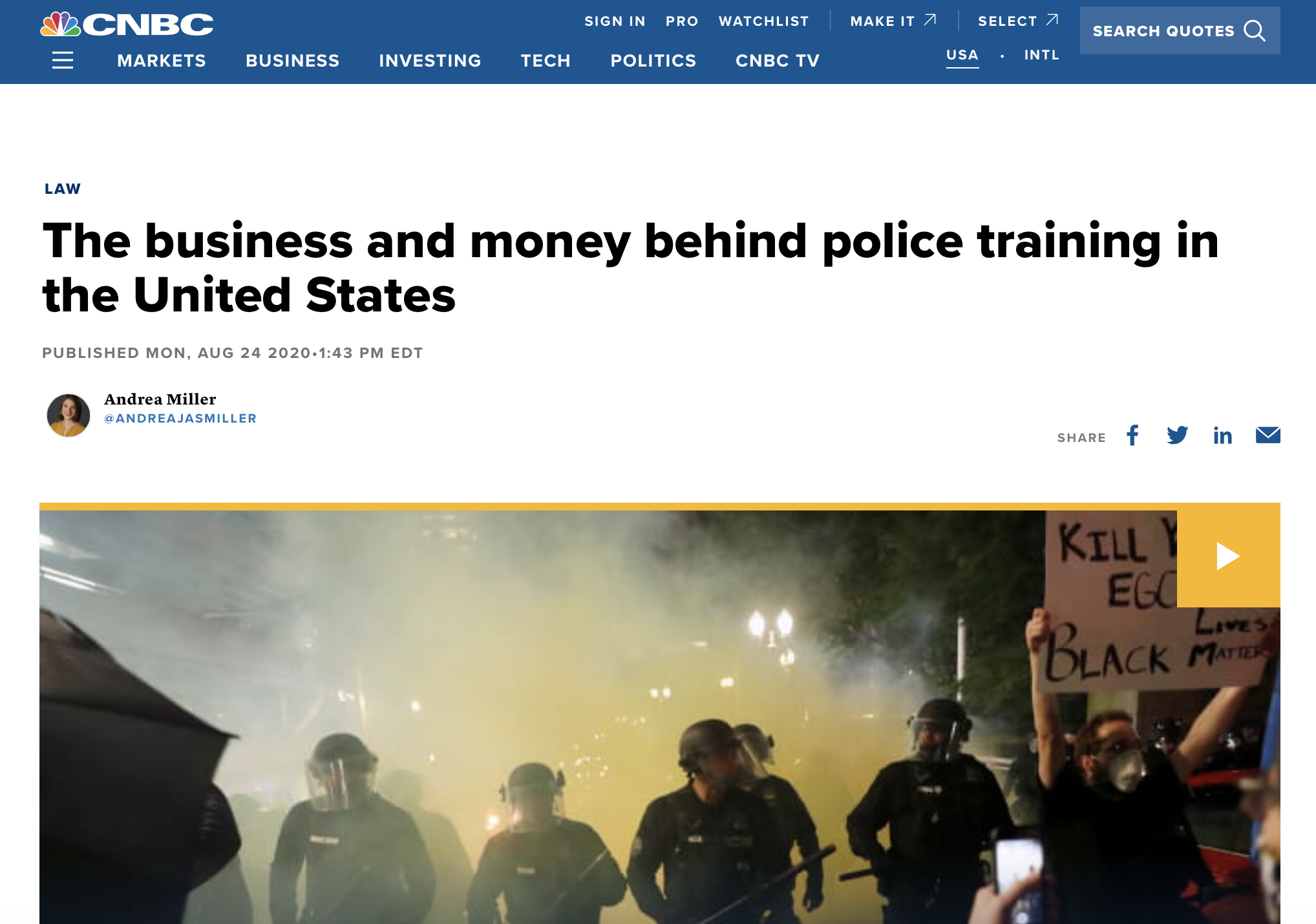 The business and money behind police training in the United States
