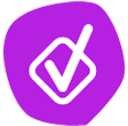 purple check box icon
