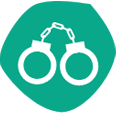 teal handcuff icon