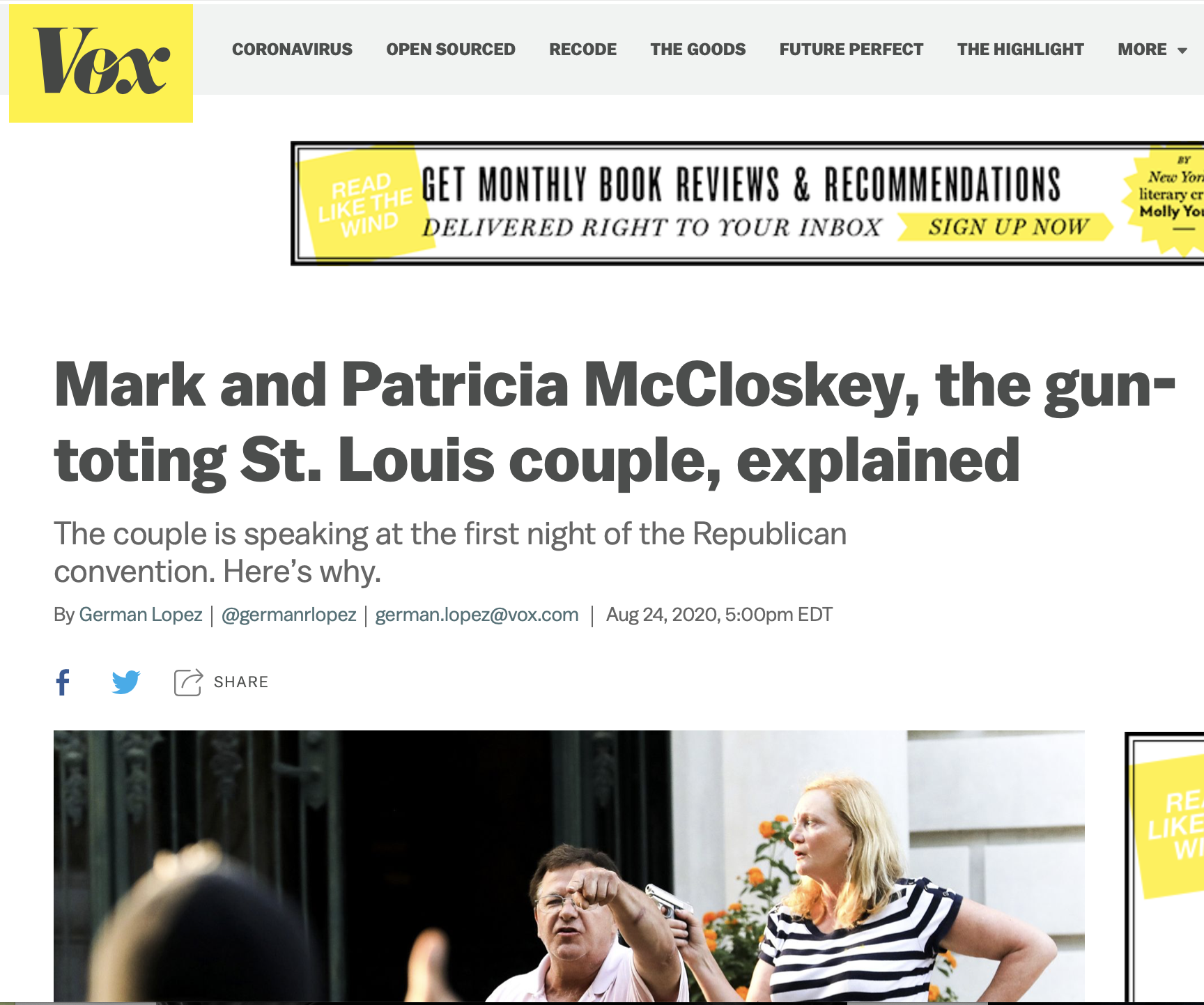 Mark and Patricia McCloskey, the gun-toting St. Louis couple, explained