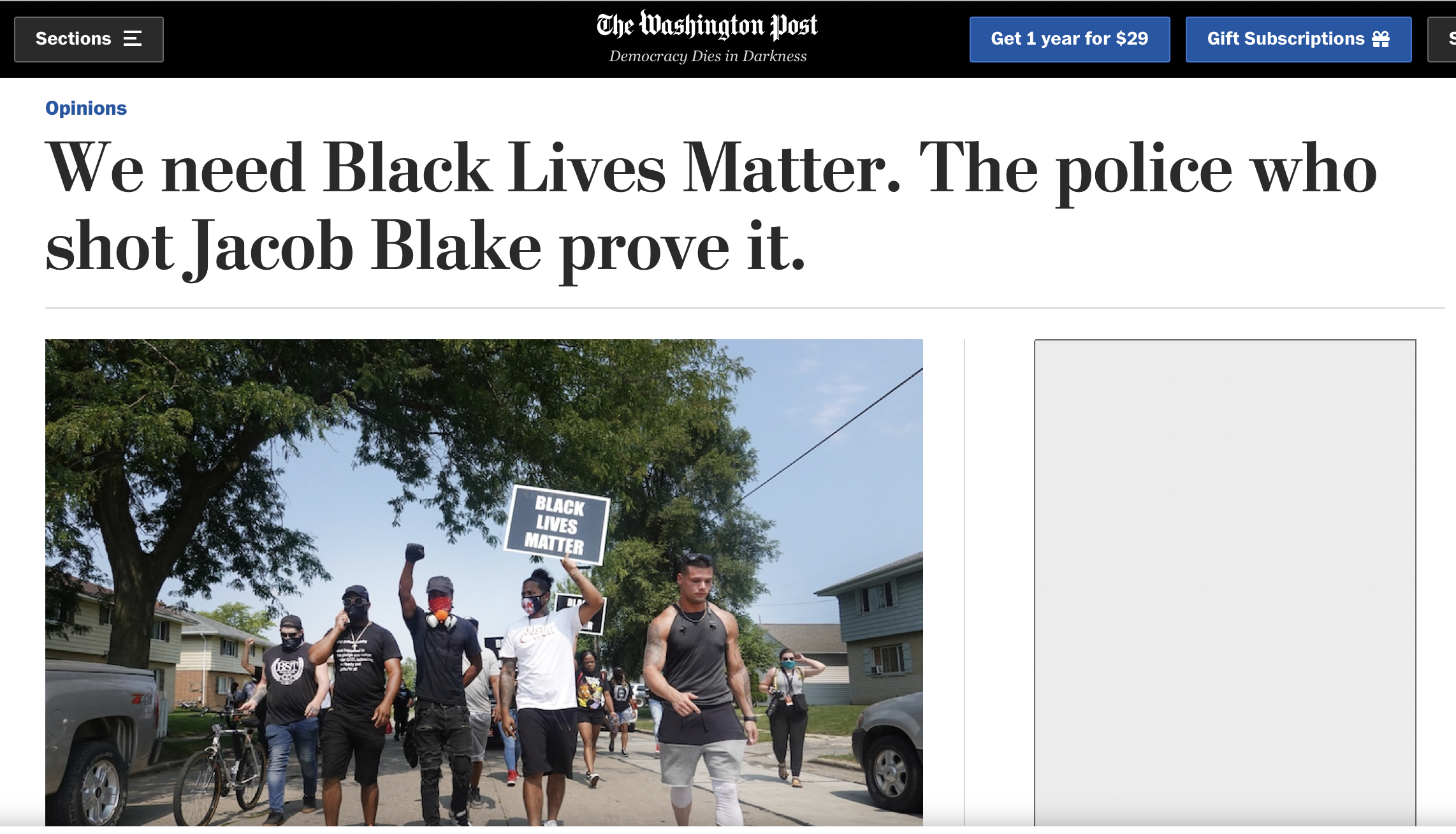 We need Black Lives Matter. The police who shot Jacob Blake prove it.