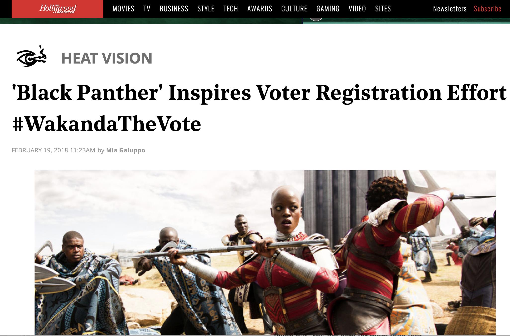 'Black Panther' Inspires Voter Registration Effort #WakandaTheVote