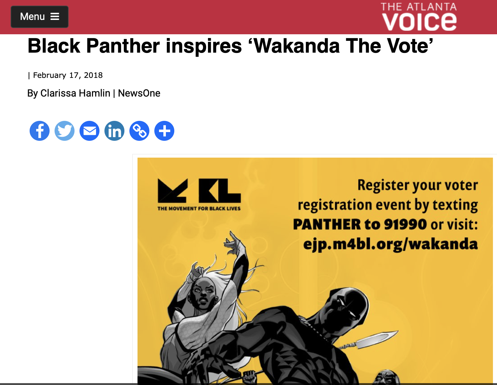 Black Panther inspires 'Wakanda The Vote'