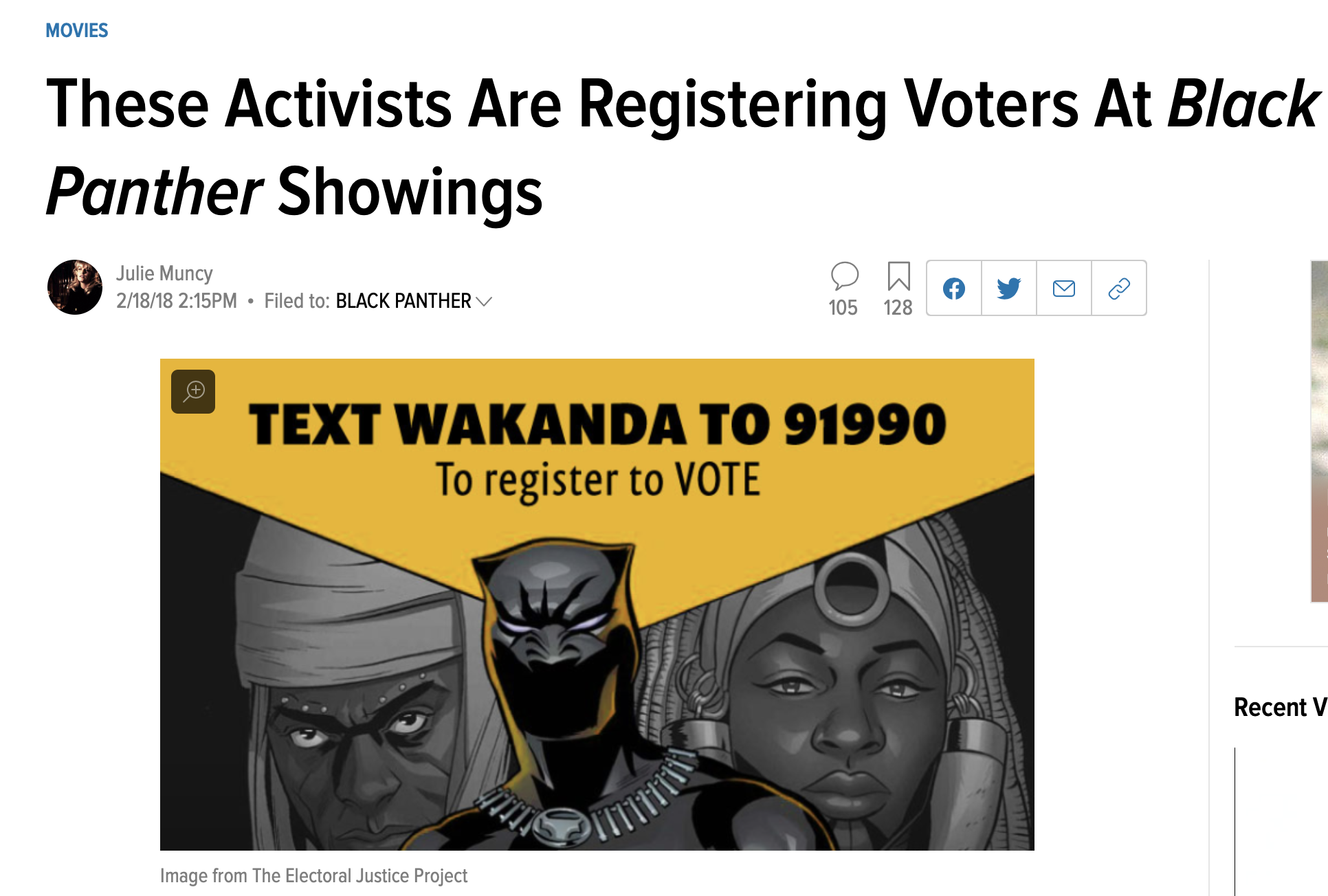 These Activists Are Registering Voters At Black Panther Showings