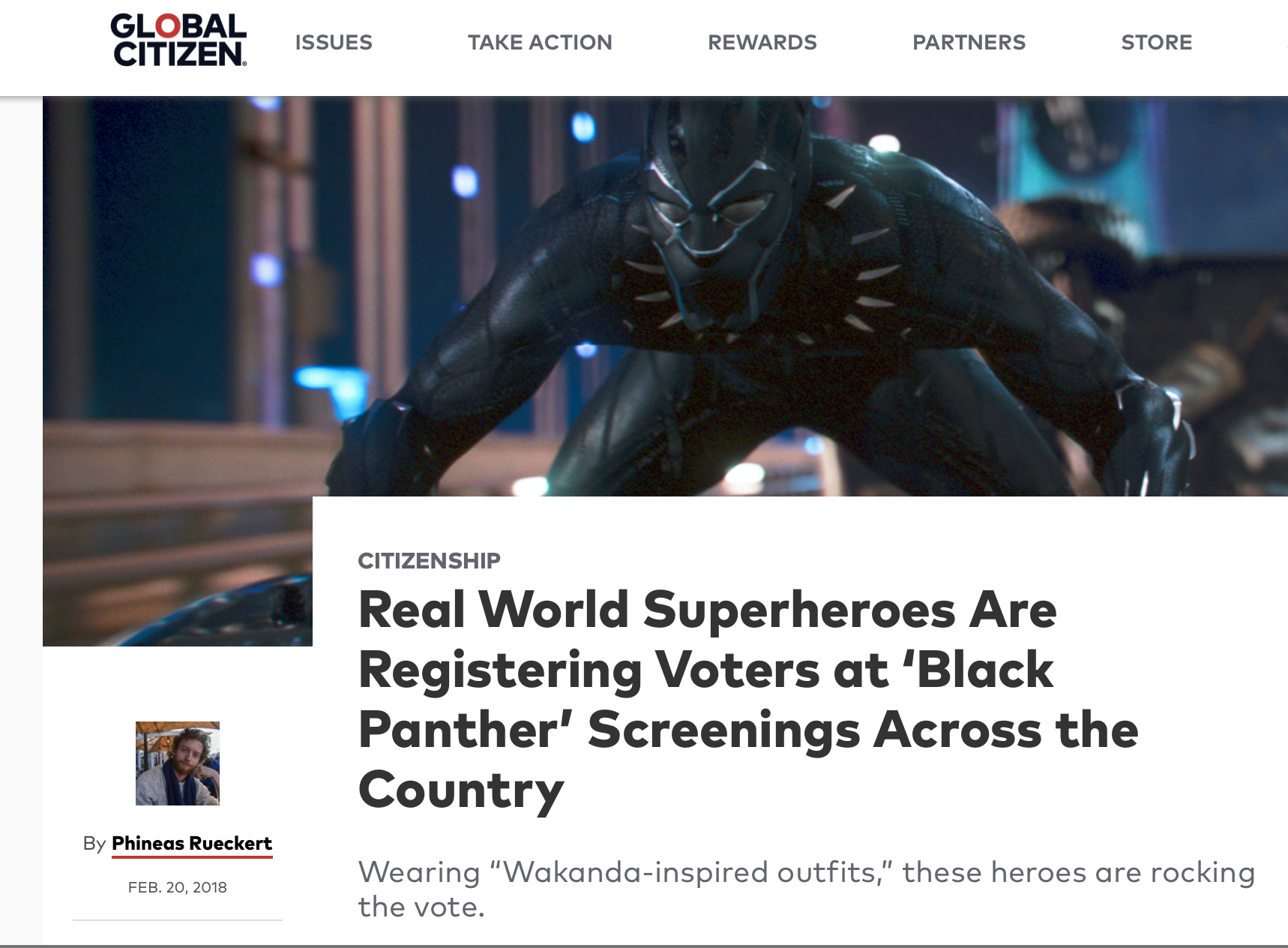 Real World Superheroes Are Registering Voters at 'Black Panther' Screenings Across the Country