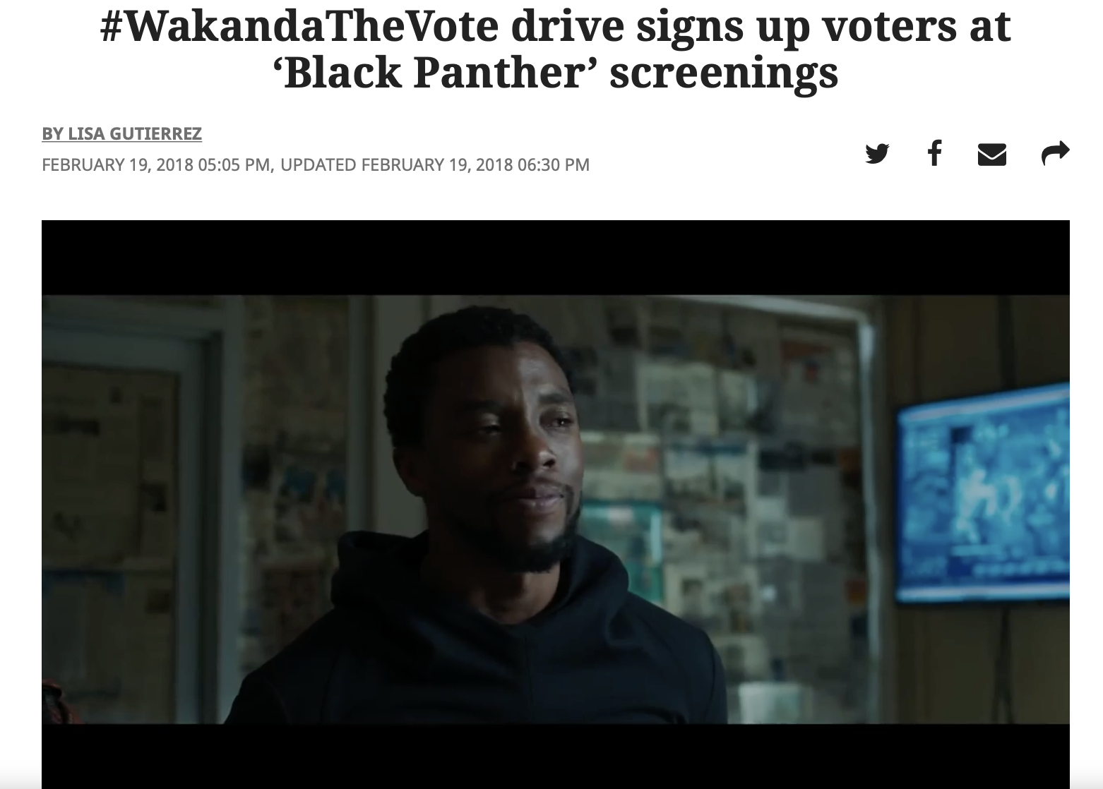 #WakandaTheVote drive signs up voters at 'Black Panther' screenings