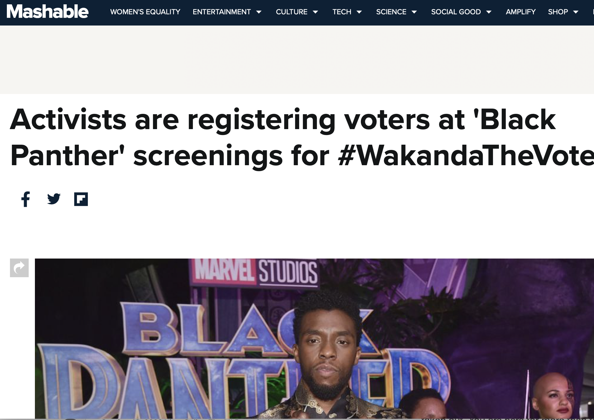 Activists are registering voters at 'Black Panther' screenings for #WakandaTheVote