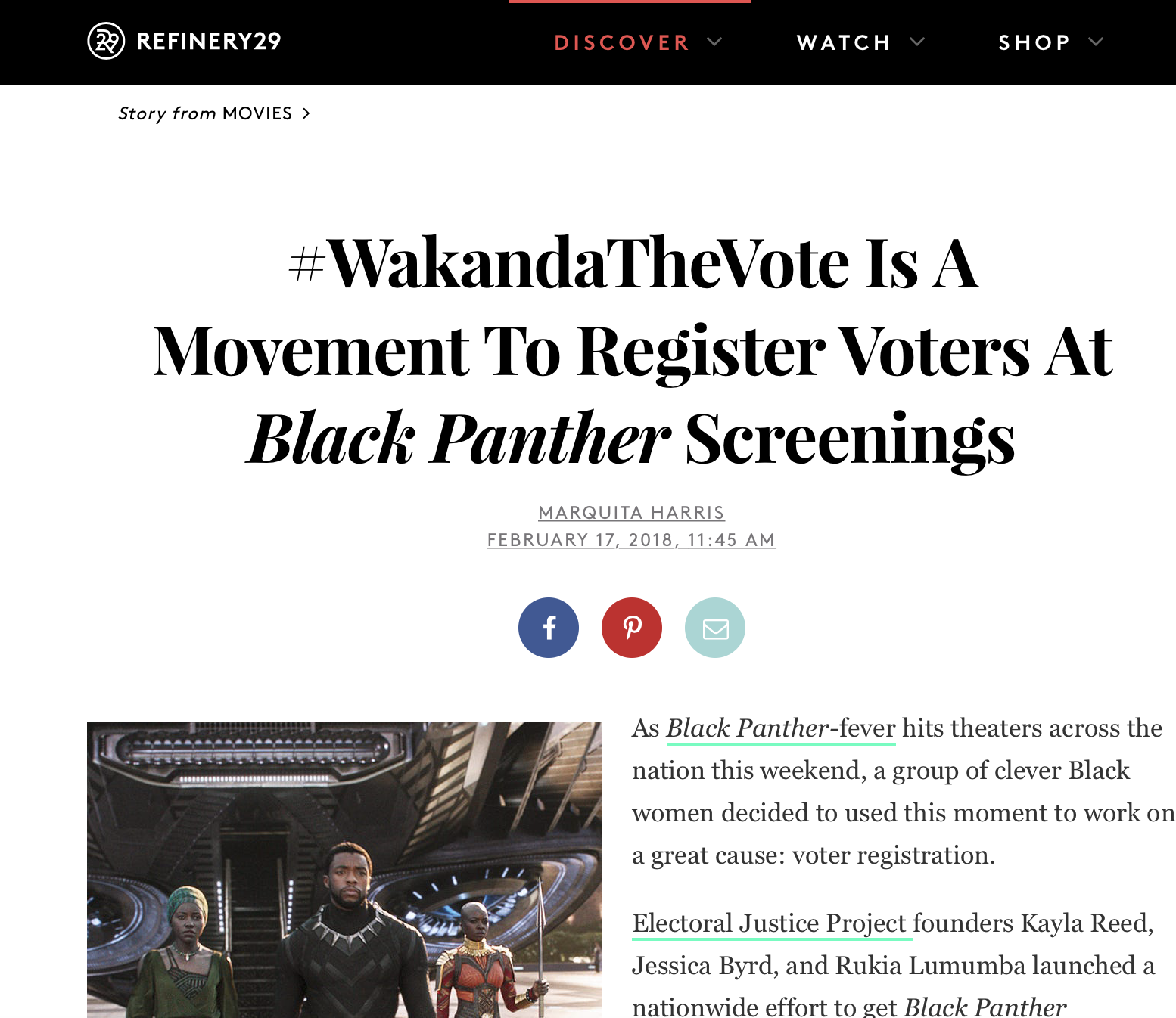 #WakandaTheVote Is A Movement To Register Voters At Black Panther Screenings