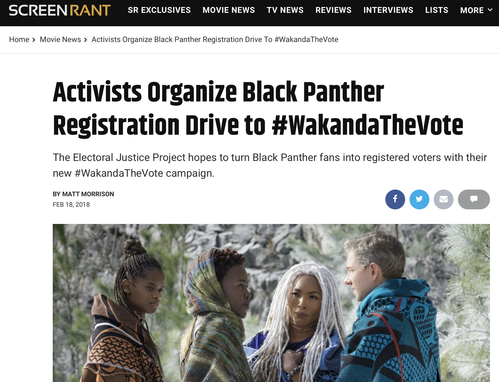 Activists Organize Black Panther Registration Drive to #WakandaTheVote