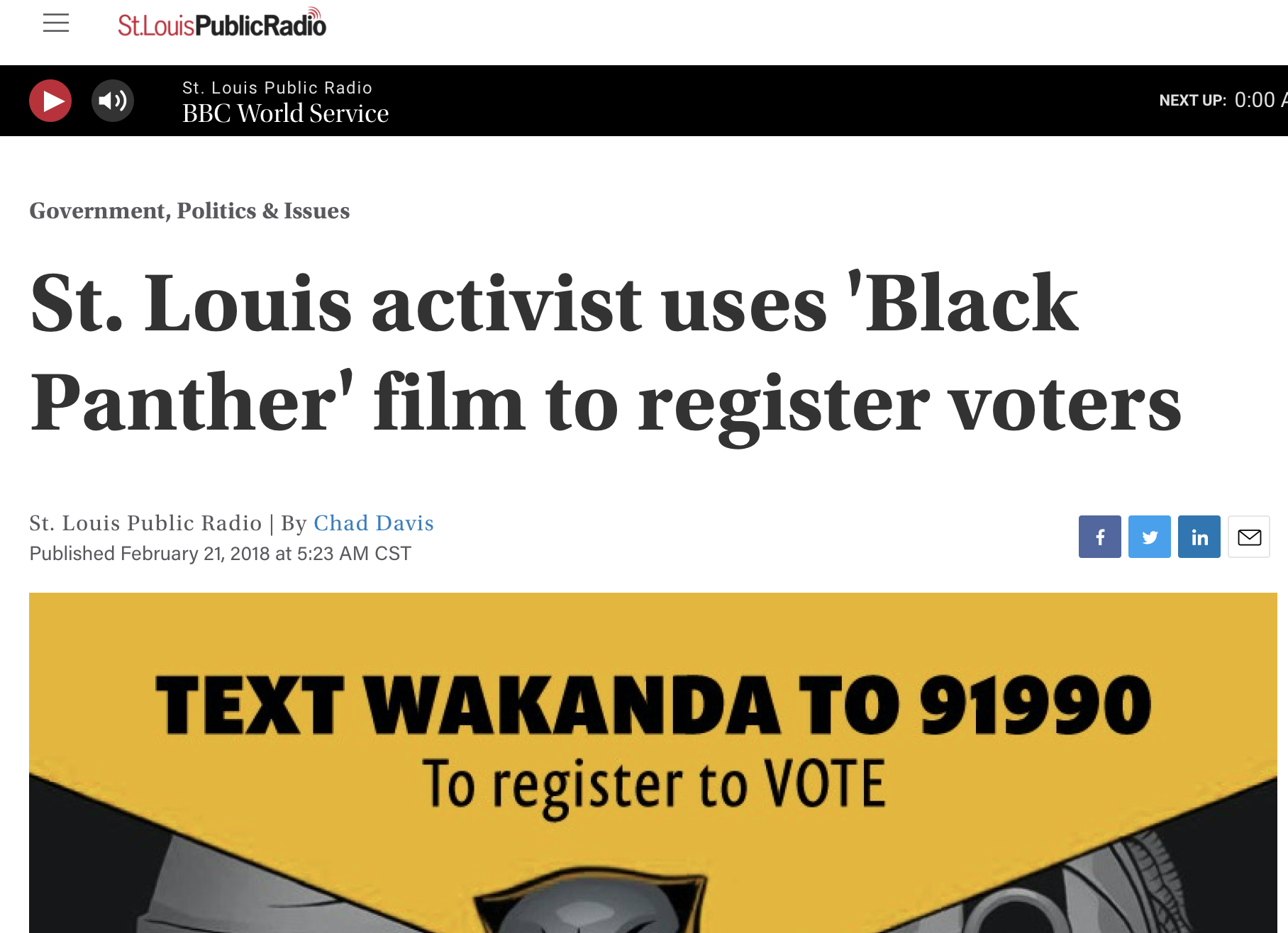 St. Louis activist uses 'Black Panther' film to register voters