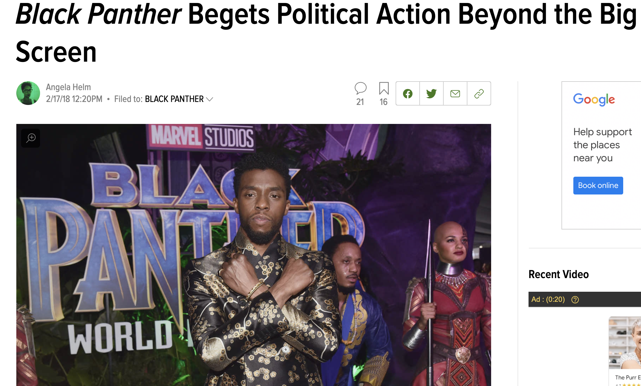 Black Panther Begets Political Action Beyond the Big Screen