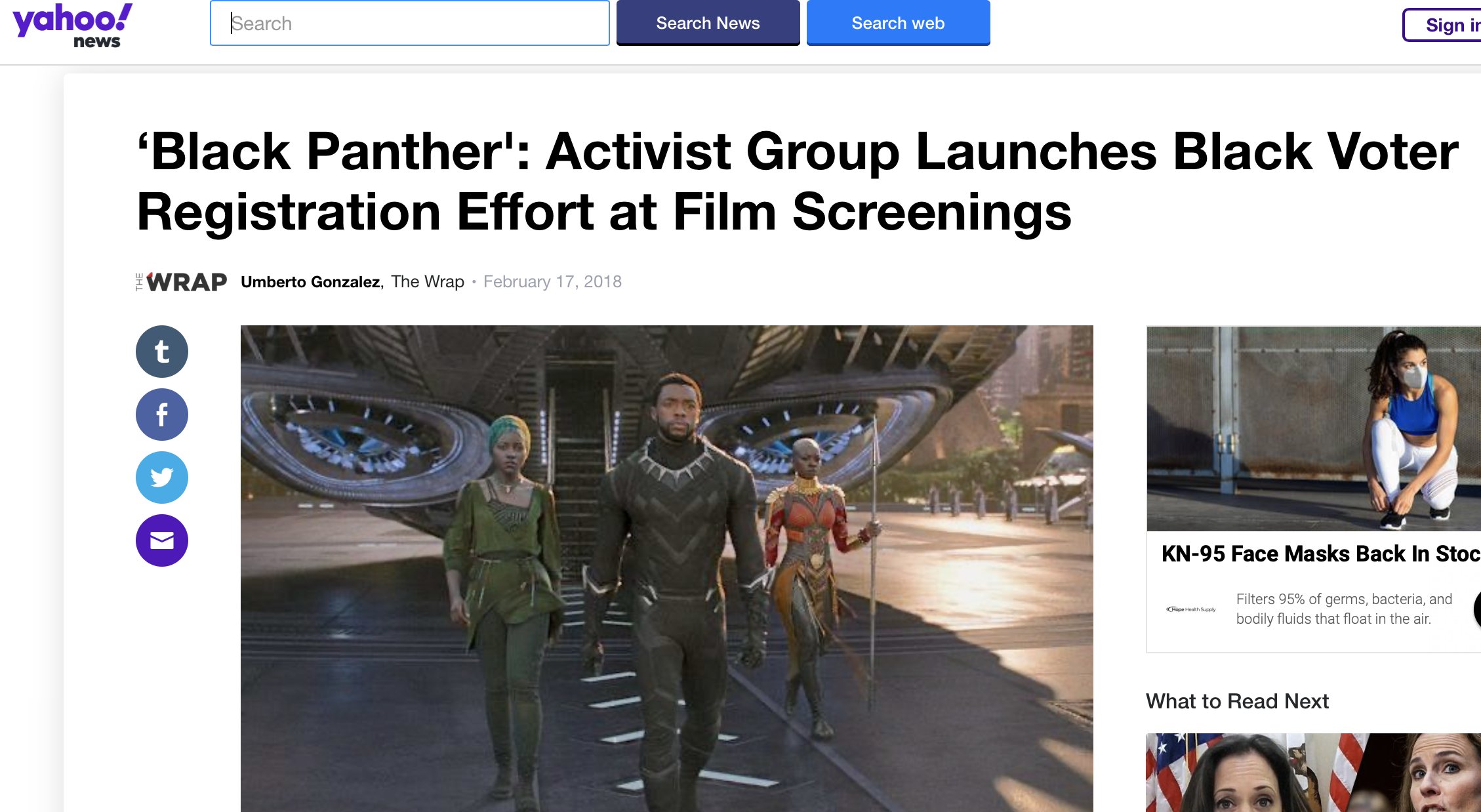 'Black Panther': Activist Group Launches Black Voter Registration Effort at Film Screenings